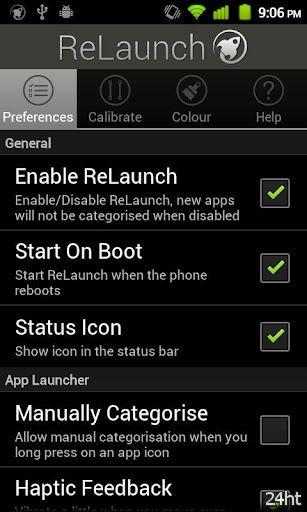 ReLaunch - Launcher 1.3 - Программа для каталогизации приложений на вашем телефоне