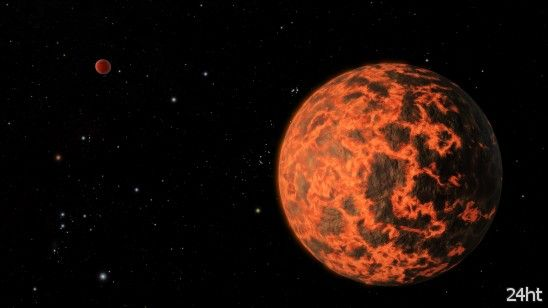 Учёные открыли экзопланету, поверхность которой покрыта раскалённой лавой