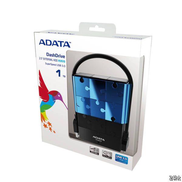ADATA выпускает внешний жесткий диск DashDrive HV610 USB 3.0