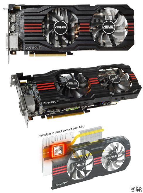 ASUS Radeon HD 7850 DirectCU II V2 с разгоном и без