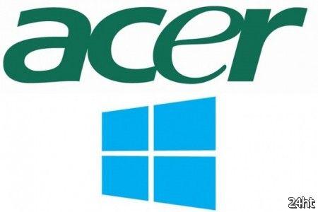 Acer не отказывается от планшетов Windows RT