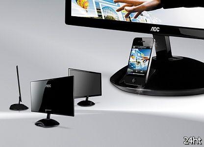 Дисплей AOC со встроенной док-станцией для iPhone уже в продаже