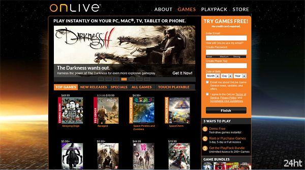 Компания OnLive обанкротилась