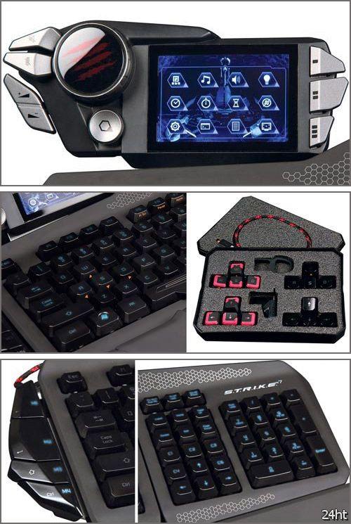 Mad Catz S.T.R.I.K.E.7: модульная игровая клавиатура с «тачскрином»
