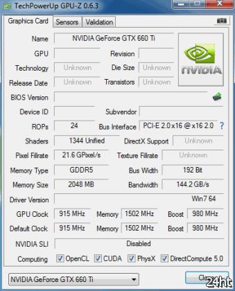 Появились данные о производительности GeForce GTX 660 Ti