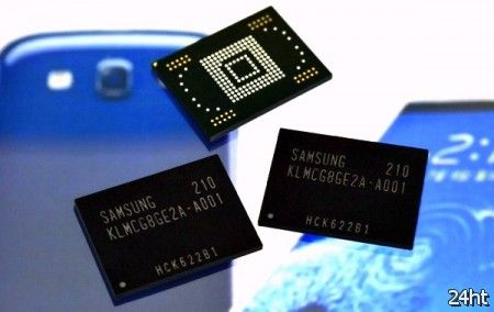 Samsung начала производство высокоскоростных чипов памяти