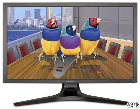 Основой 27-дюймового монитора ViewSonic VP2770-LED стала панель типа IPS разрешением 2560 х 1440 пикселей