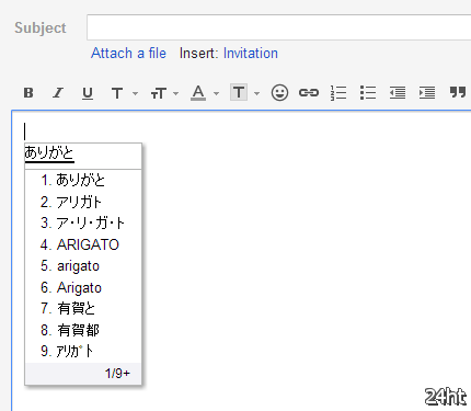 """В Gmail добавлено более ста """"языковых клавиатур""""для транслитерирования"""
