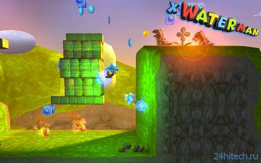 3D X WaterMan - красочная аркада