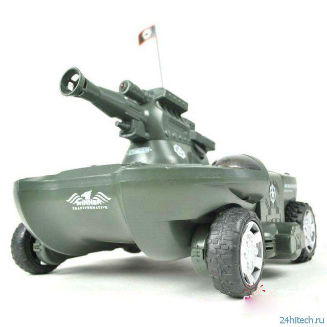Amphibious Tank Green - плавающая радиомодель с аирсофт пушкой