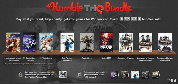 Комплекты игр Humble THQ продались почти миллионным тиражом на сумму более  млн