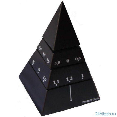 Оригинальные часы-пирамида