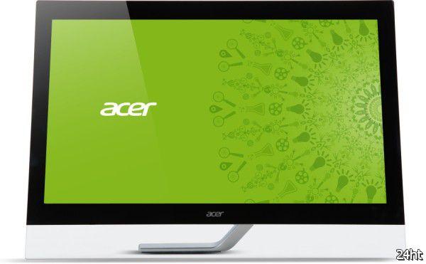 Представлен сенсорный монитор Acer T232HLbmidz