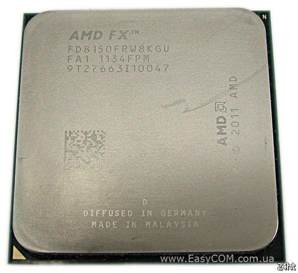 Продажи процессора AMD FX-8150 прекратятся в первом квартале 2013 года