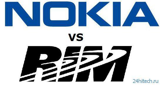 RIM заплатит Nokia 65 миллионов долларов для урегулирования патентного спора