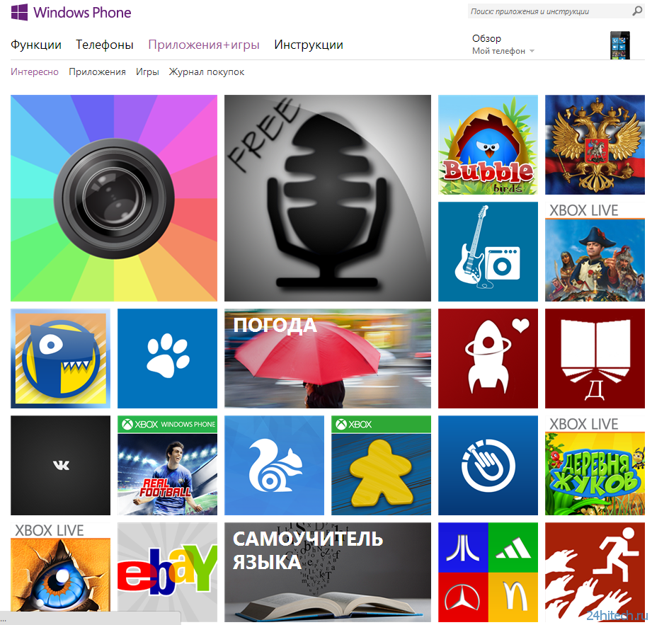 За 2012 год в Windows Phone Store было опубликовано более 75 000 приложений
