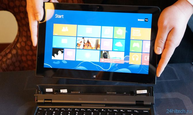 Lenovo на CES 2013 представила Thinkpad Helix с Windows 8 на борту