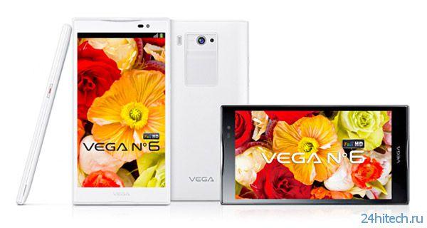 Pantech Vega No 6 - очередной смартфон с огромным экраном