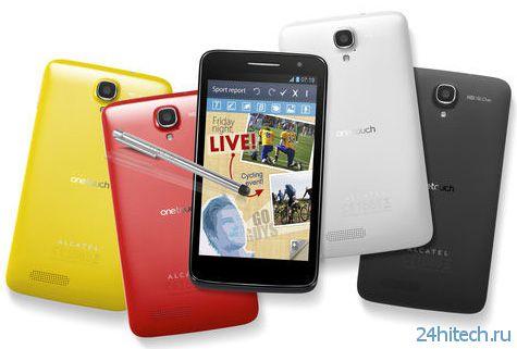 В США состоялся анонс смартфона Alcatel One Touch Scribe HD с 5-дюймовым дисплеем и четырехъядерным CPU
