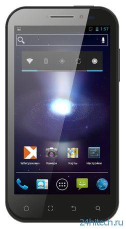 5,25-дюймовый смартфон teXet TM-5277 вышел в продажу