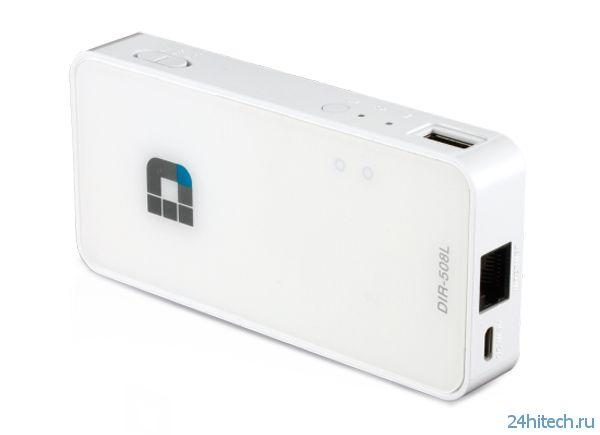 Портативный роутер D-Link DIR-508L SharePort Go II