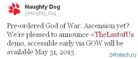 Демо-версия The Last of Us для владельцев God of War: Ascension станет доступна в конце мая