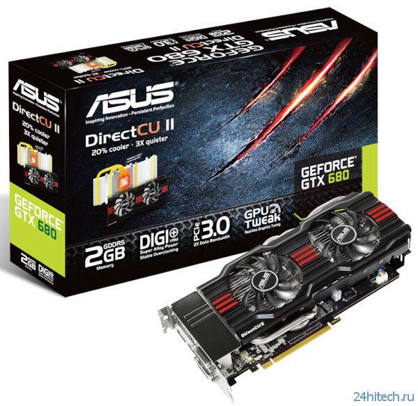 GOP UEFI BIOS доступный для видеокарт серии ASUS GeForce GTX 680