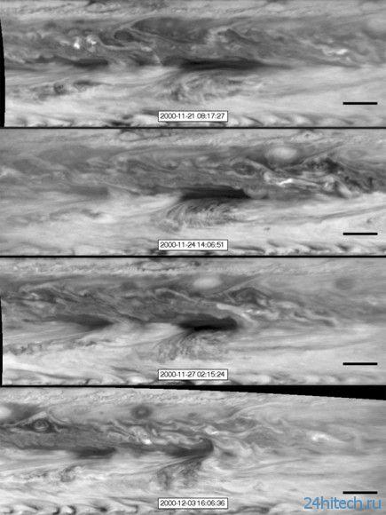 Горячие пятна в атмосфере Юпитера