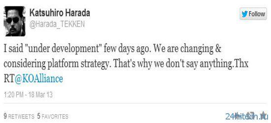 Katsuhiro Harada о Tekken X Street Fighter