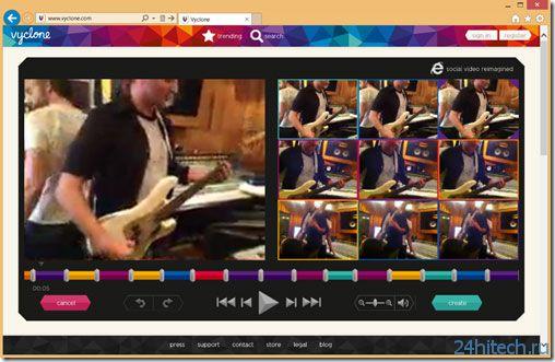 Microsoft представила службу редактирования видео для Internet Explorer 10