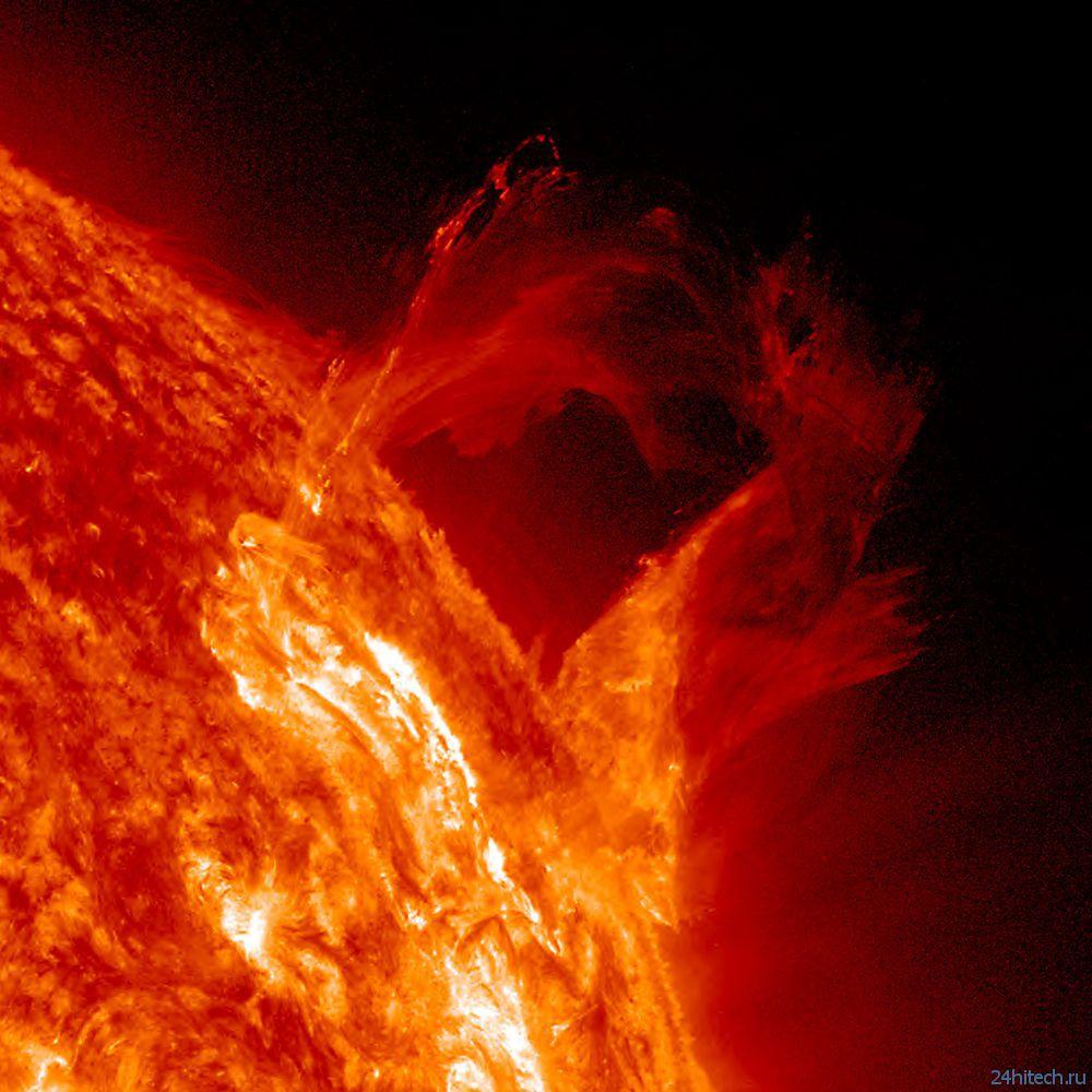 Потрясающий снимок Солнца
