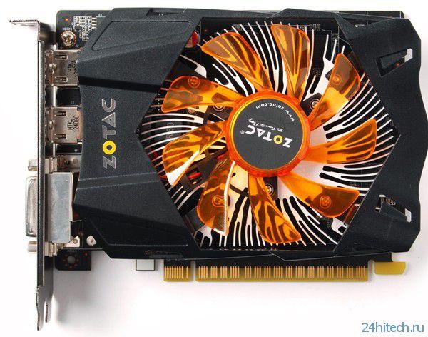Видеокарта ZOTAC GeForce GTX 650 Synergy Edition с расширенным набором внешних интерфейсов
