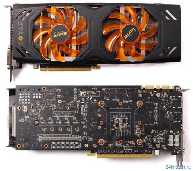 ZOTAC GeForce GTX 680 AMP! Edition с кулером Dual Silencer