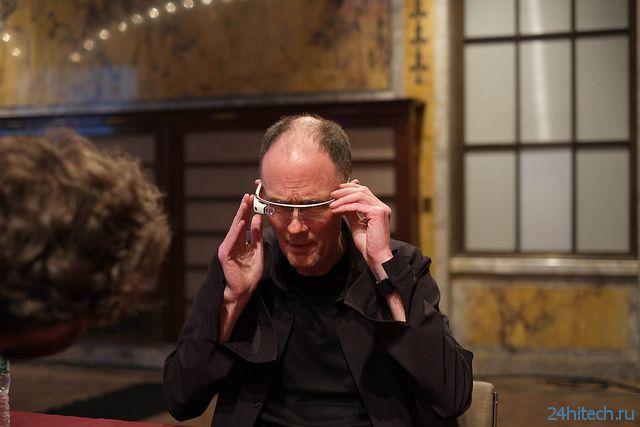 Google Glass хватает всего на 30 минут работы
