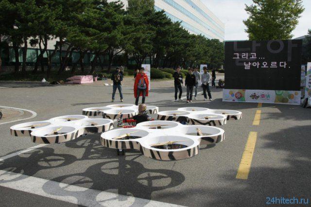 Летающий концепт-кар на шоу Hyundai (видео)