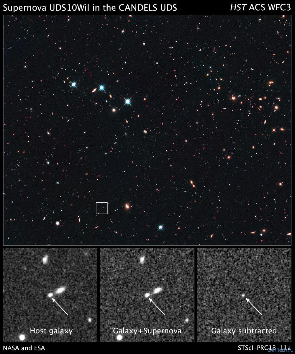 Обнаружен самый далекий звездный взрыв