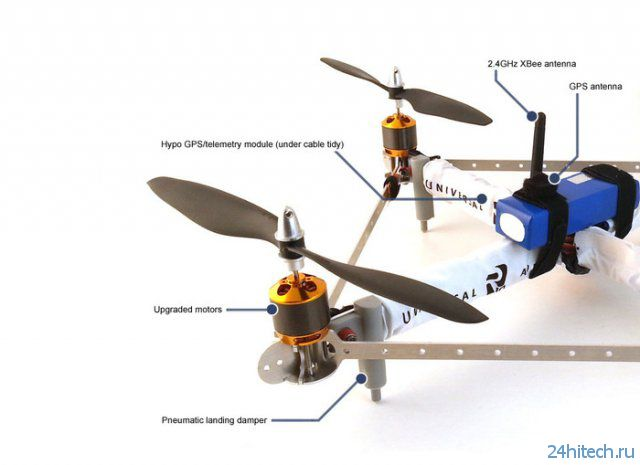 R10-Quadrotor - мощный и доступный квадрокоптер (12 фото + видео)