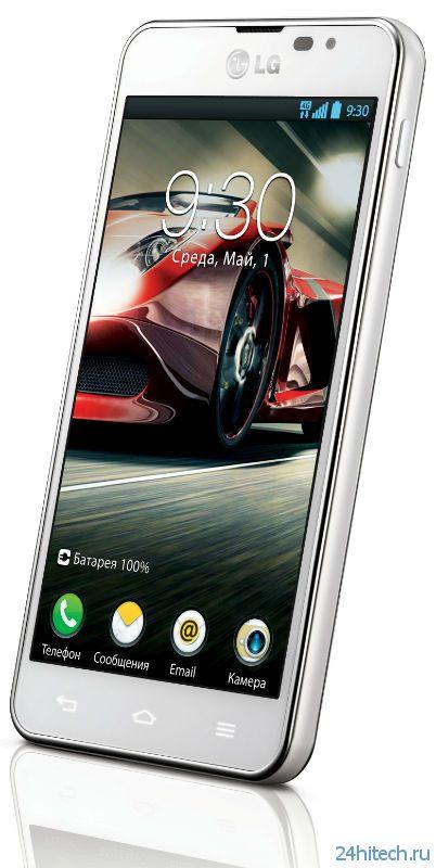 4G LTE смартфон LG Optimus F5 приходит в Россию
