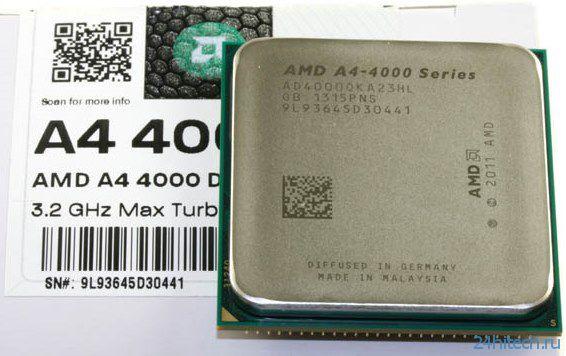 APU AMD A4-4000 появился в продаже по цене