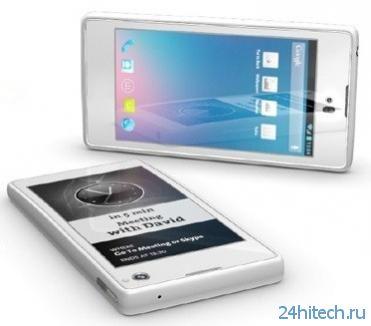 Новый 4G-телефон YotaPhone с двумя экранами