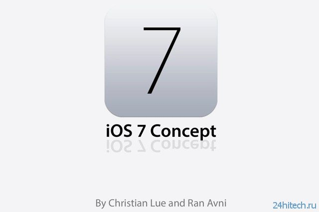 Очередной концепт iOS 7 на видео