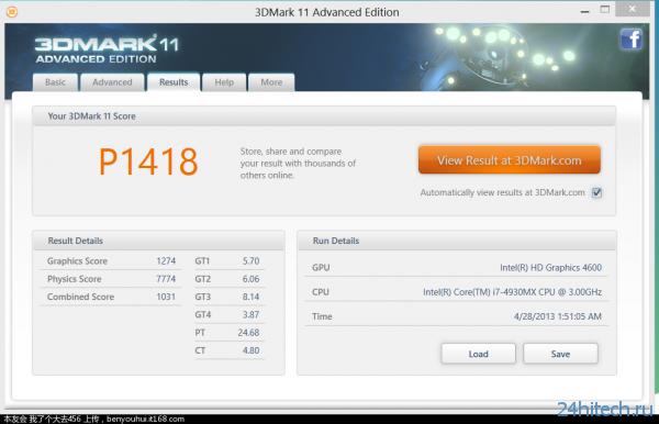 Результаты тестирования флагманского мобильного процессора Intel Core i7-4930MX