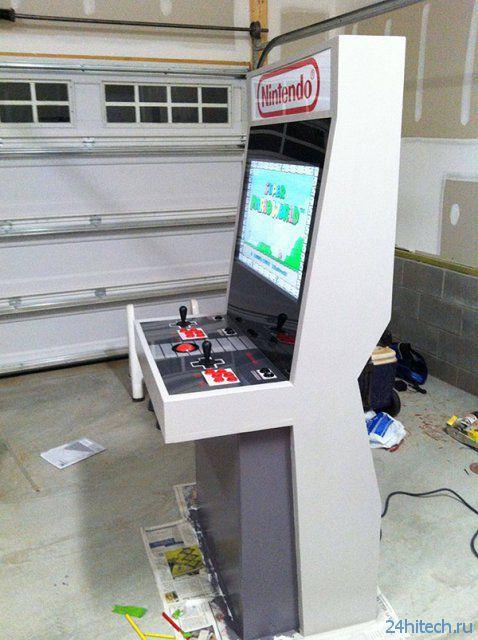 Самодельный игровой аппарат в стиле Nintendo (6 фото)