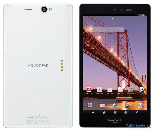 Sharp Aquos Pad SH-08E - 7-дюймовый планшет с FullHD IGZO дисплеем