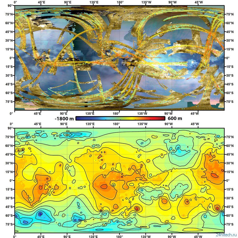 Составлена первая карта луны Сатурна