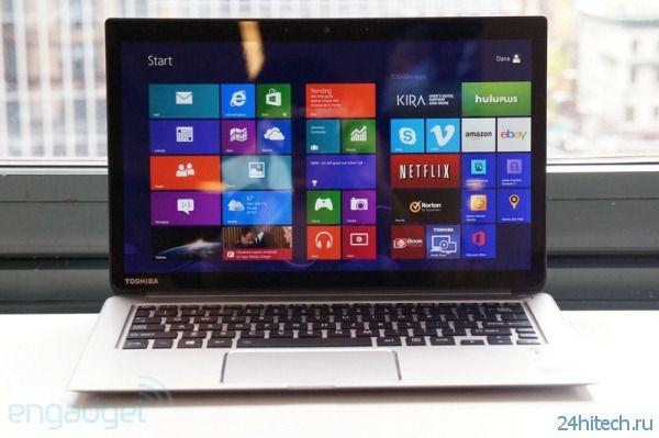 Ультрабук Toshiba Kirabook с разрешением экрана 2560 × 1440 точек выполнен из магниевого сплава и оснащён аккумулятором ёмкостью 52 Вт∙ч