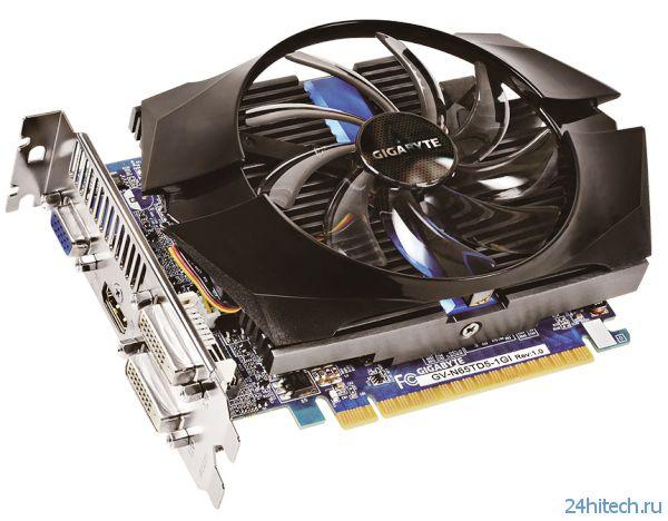 Видеокарта GIGABYTE GeForce GTX 650 Ti (GV-N65TD5-1GI) с повышенной частотой GPU