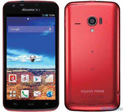 Водонепроницаемому смартфону Sharp Aquos Phone Zeta SH-06E достался экран IGZO 1080p и SoC Snapdragon 600, работающая на частоте 1,7 ГГц