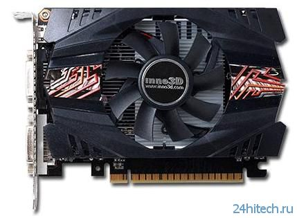 Видеокарта Inno3D GeForce GTX 650 Green Rev2 без дополнительного 6-контактного разъёма питания