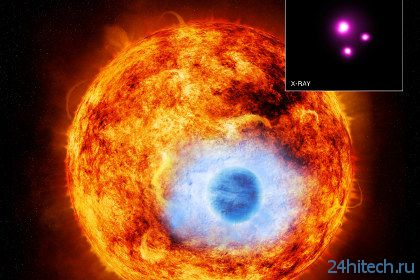 Астрономы увидели затмение звезды в рентгеновских лучах
